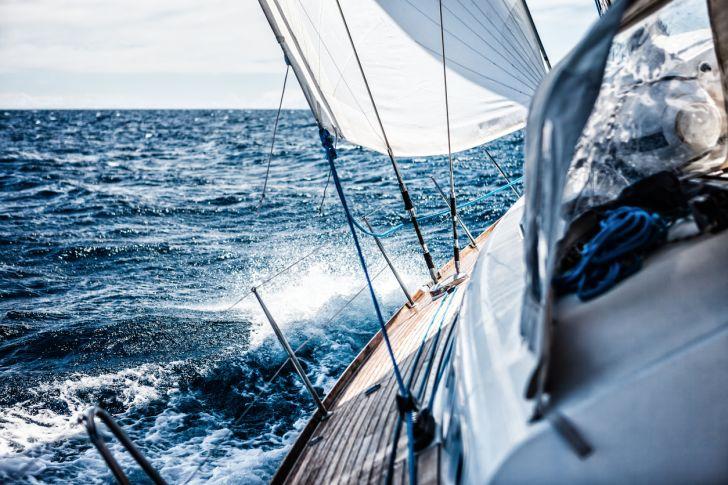 Ship on the ocean.