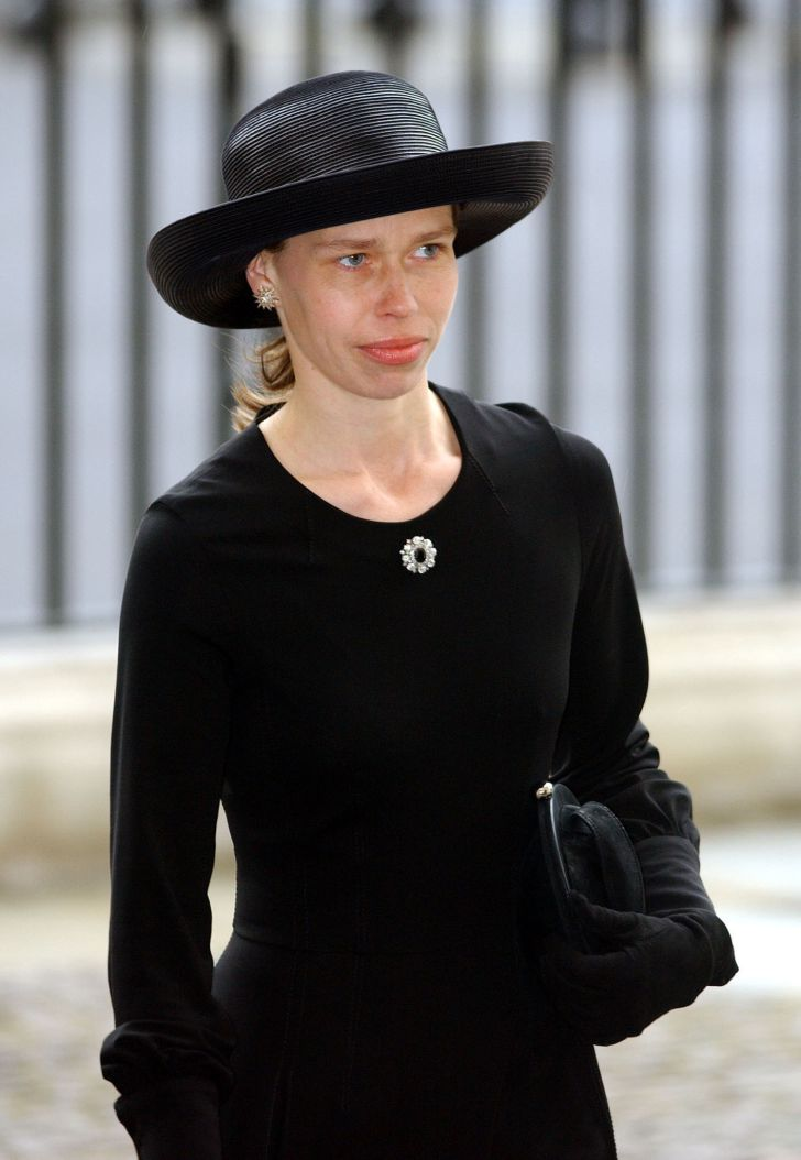 Lady Sarah Chatto, the daughter of Princess Margaret arrives for her mother's memorial service