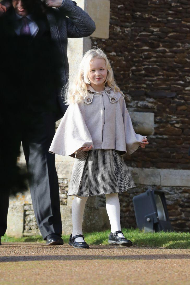 Savannah Phillips attends a Christmas Day church service