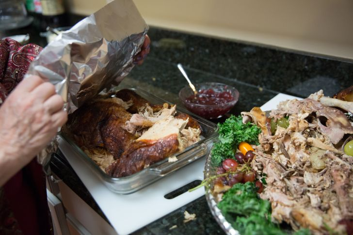 Leftover turkey.