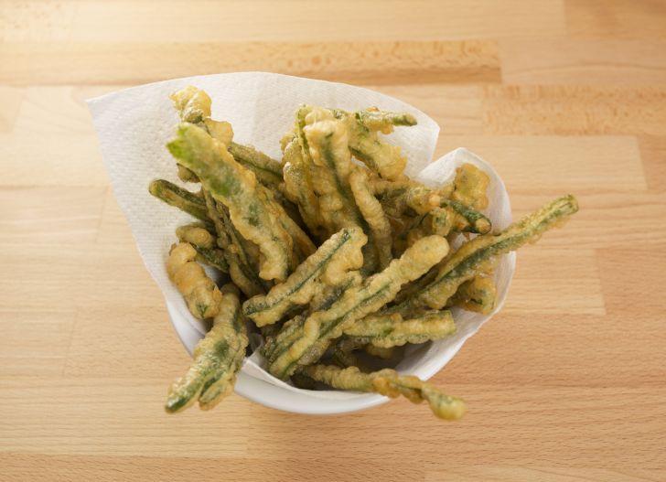 Fried green beans.