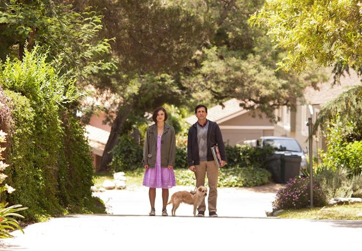 Keira Knightley, Steve Carell and Aleister the shelter dog in 'Seeking a Friend for the End of the World'