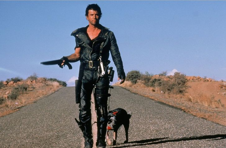 Mel Gibson and Dog star in 'The Road Warrior'