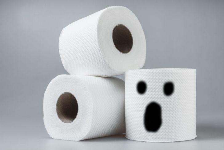 Rolls of spooky toilet paper will haunt your bowel movements