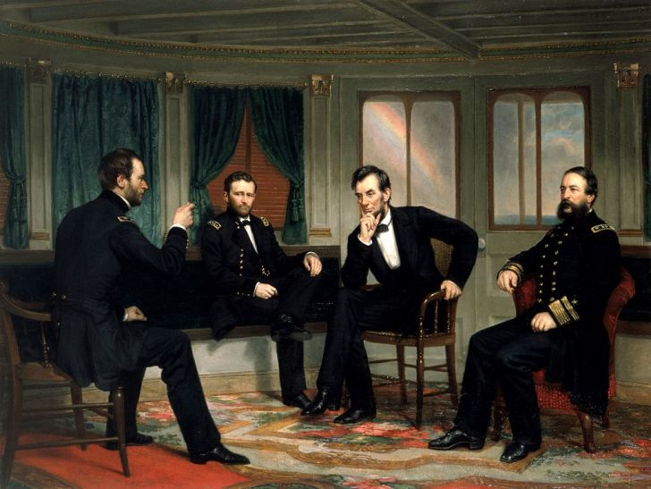 'The Peacemakers' Painting, Featuring Abraham Lincoln
