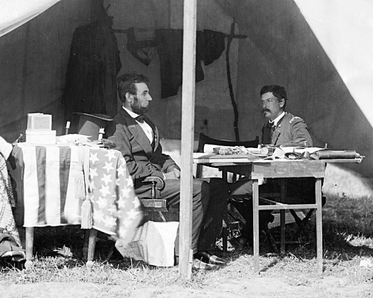 President Abraham Lincoln photo during the Civil War.