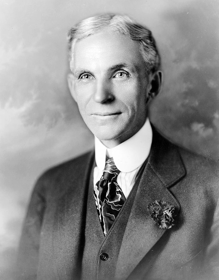 A photo of industrialist Henry Ford.