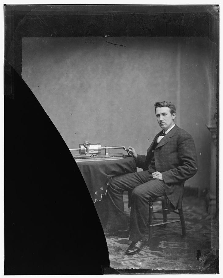 A photograph of a young Thomas Edison.