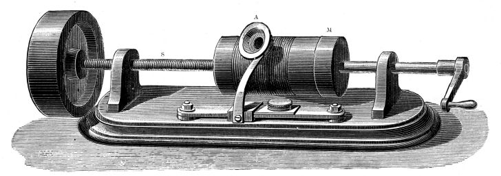 Thomas Edison phonograph drawing.