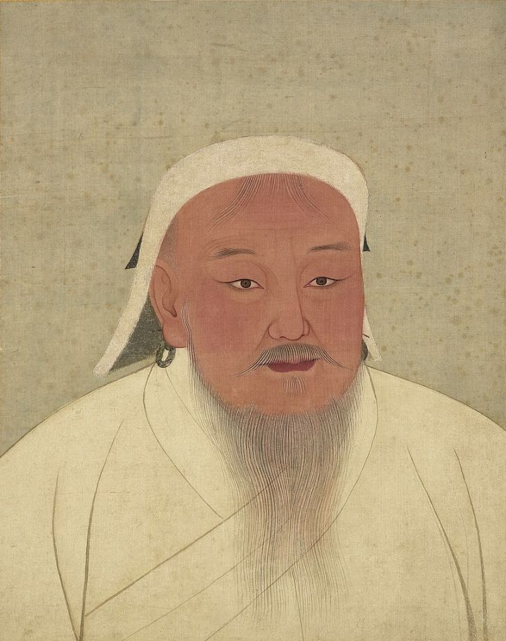 An illustration of Genghis Khan.