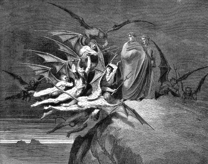Dante's version of Hell from The Divine Comedy