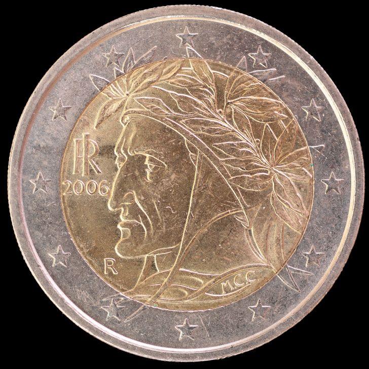Dante Alighieri on the Italian Euro.