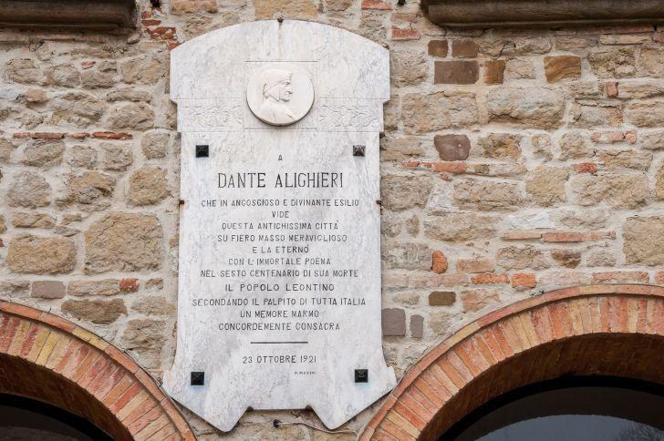 Dante Alighieri plaque in Italy.