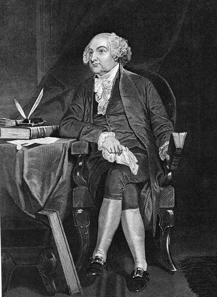 A portrait of President John Adams.