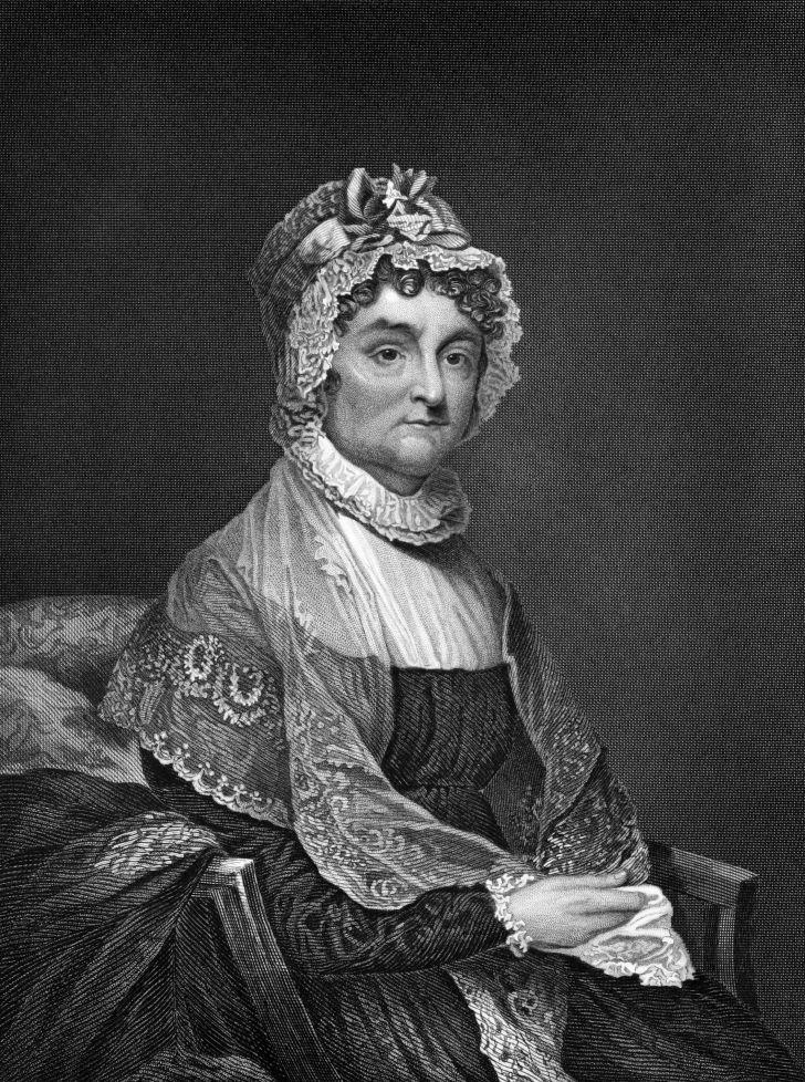 A portrait of Abigail Adams.