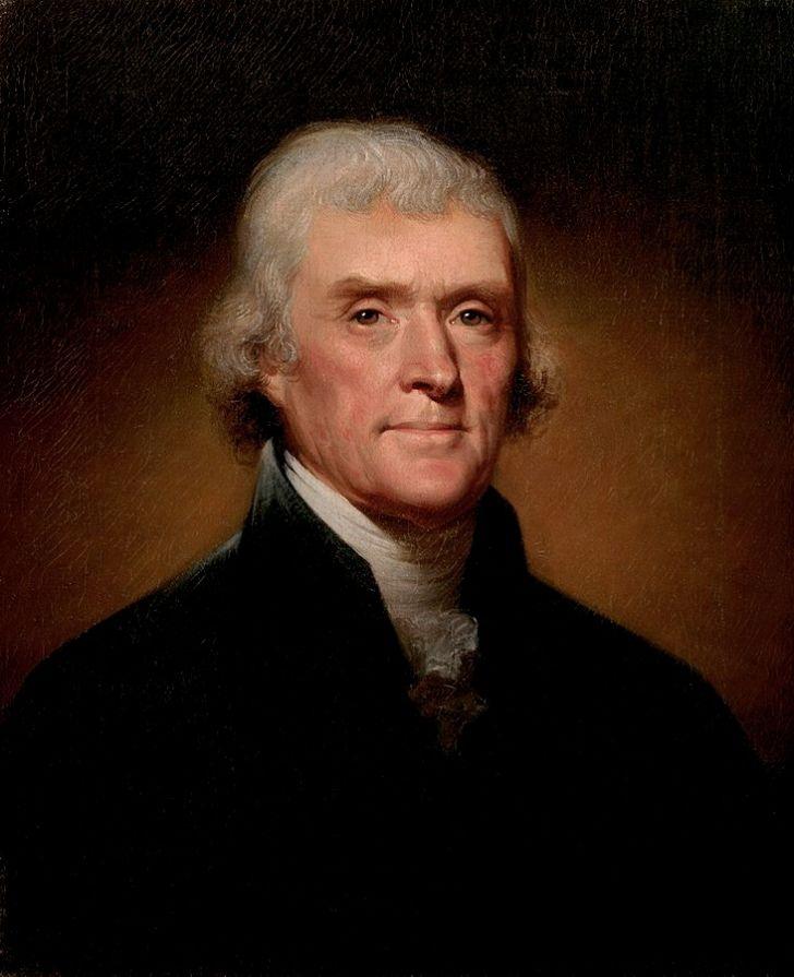 Portrait of President Thomas Jefferson.