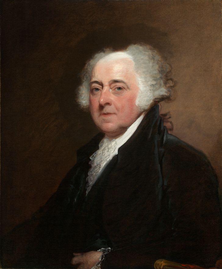 Portrait of President John Adams.