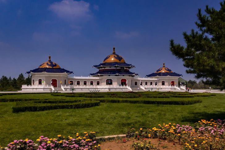 Genghis Khan mausoleum near Ordos, Inner Mongolia.
