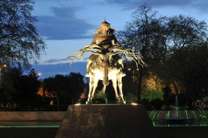 Genghis Khan statue in London.