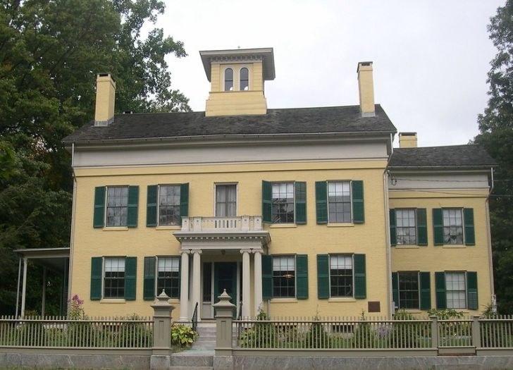 Emily Dickinson house in Amherst, Massachusetts.