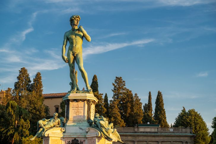 Michelangelo's statue of David recreation.