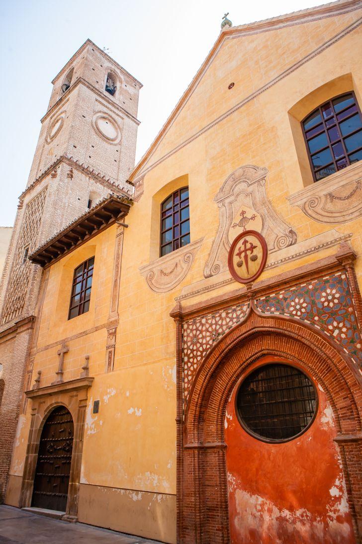 A photo of the Santiago Apostle Church in Málaga, Spain, where Picasso was baptized.