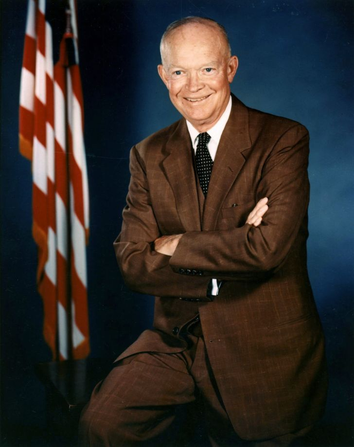 A portrait of President Dwight D. Eisenhower.