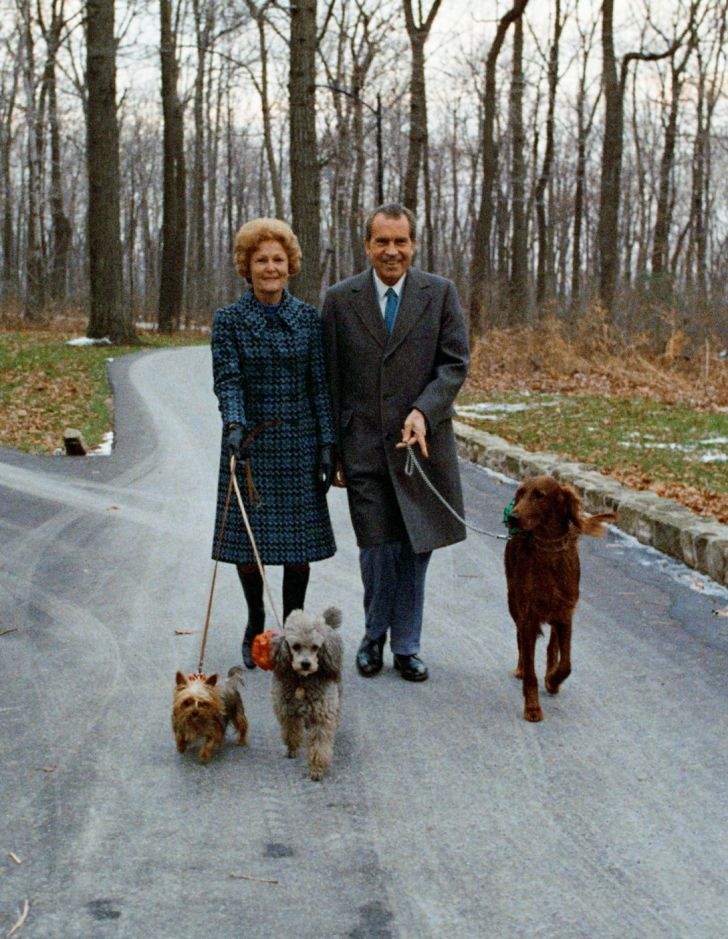 A photo of Richard Nixon and his wife, Pat Nixon.