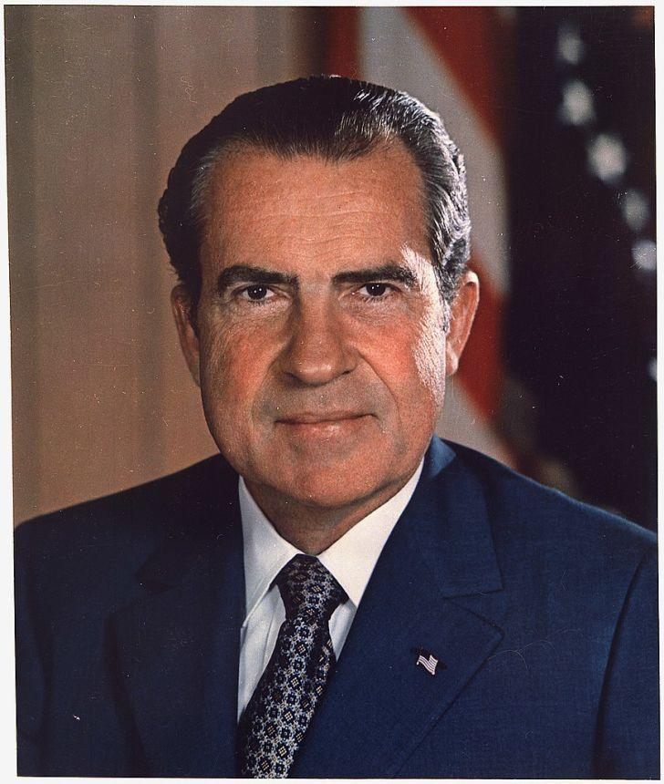 A photo of President Richard Nixon taken in the White House.