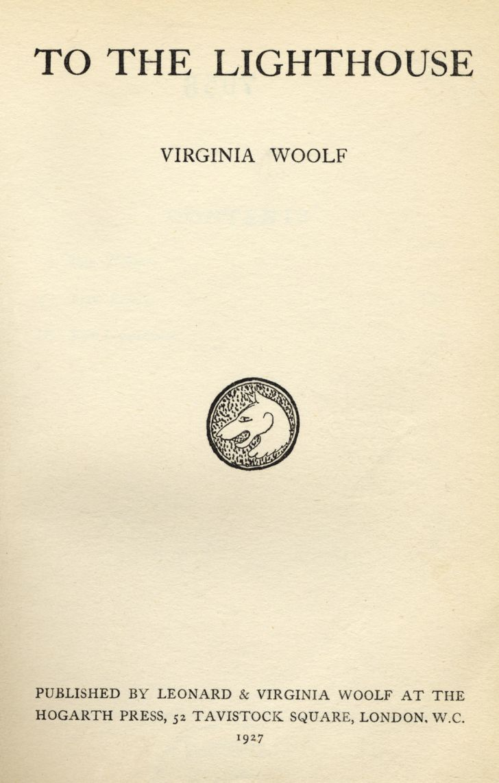 A photo of the book 'To the Lighthouse,' which was written by author Virginia Woolf and published in 1927.
