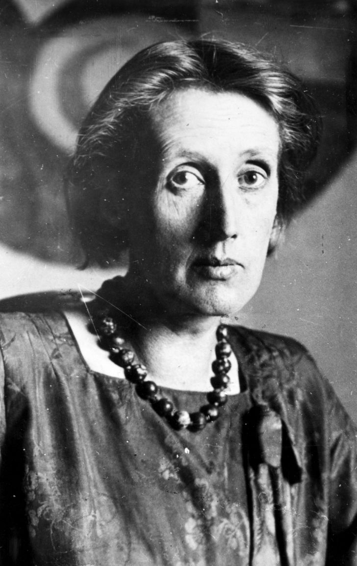 A photo of author Virginia Woolf.