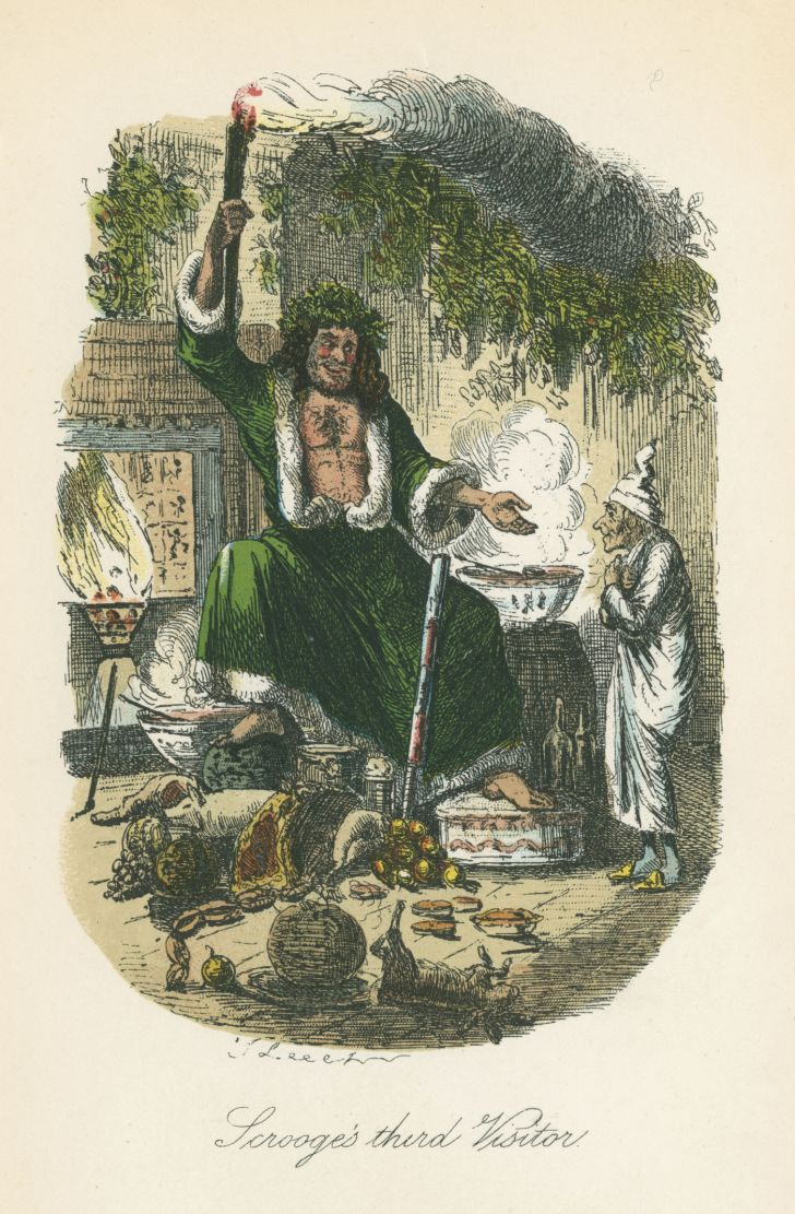 An illustration from Charles Dickens's 'A Christmas Carol.'
