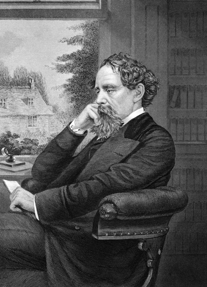 An illustration of writer Charles Dickens.