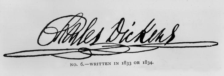 Charles Dickens signature.