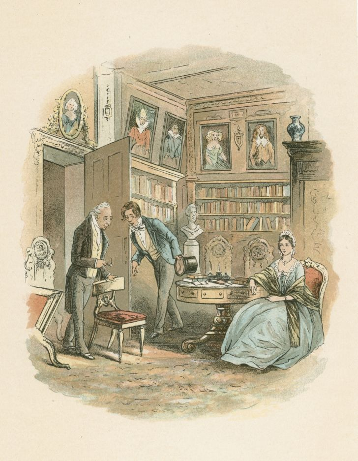 An illustration of a scene from Charles Dickens's 'Bleak House.'
