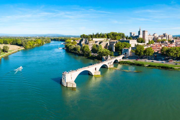 The Rhône River in France