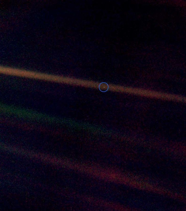 NASA's Pale Blue Dot photo from 1990.