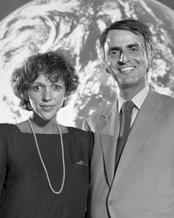 Carl Sagan and his wife, Ann Druyan.