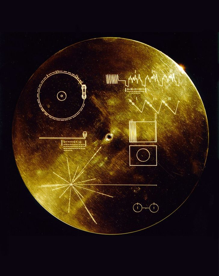 NASA's gold record case for Voyager 1 and 2.