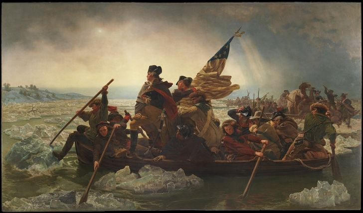 Washington Crossing the Delaware.