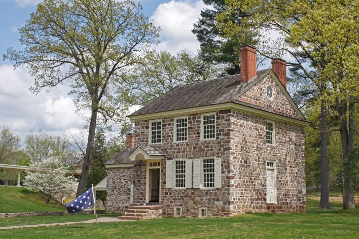 A photo of George Washington's headquarters in Valley Forge.