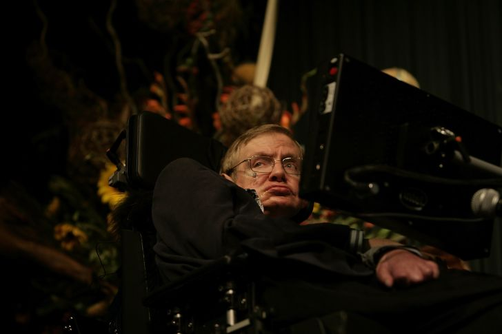A photo of theoretical physicist Stephen Hawking.