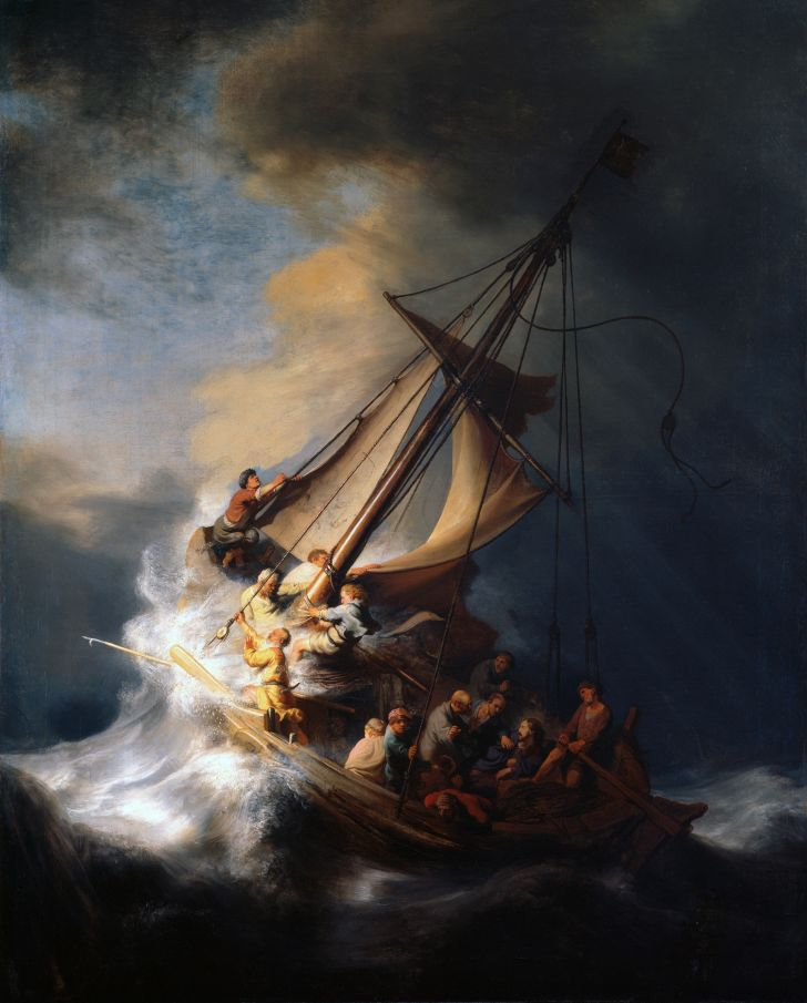 Rembrandt's christ in the storm on the sea of galilee