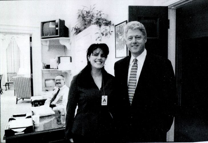 A photo of Bill Clinton and Monica Lewinsky.