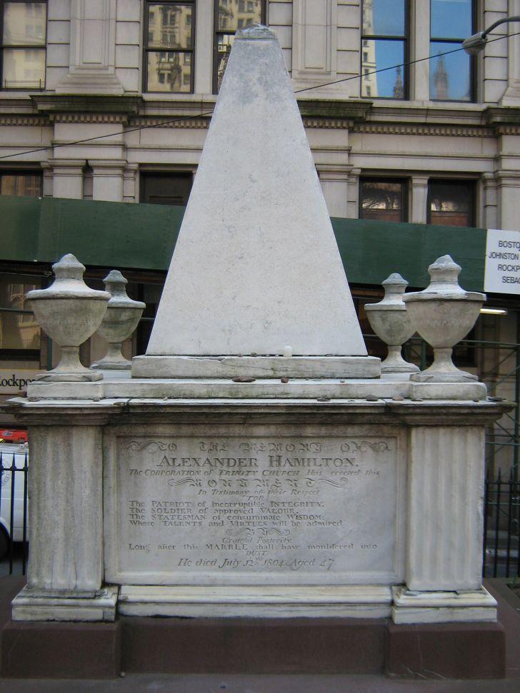 alexander hamilton gravesite in trinity church cemetery