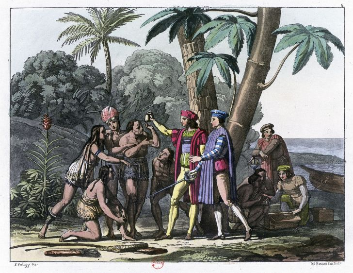 Christopher Columbus and Indigenous people.
