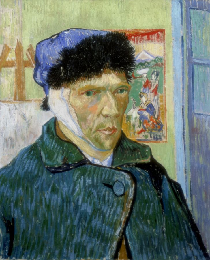 vincent van gogh's self-portrait with bandaged ear