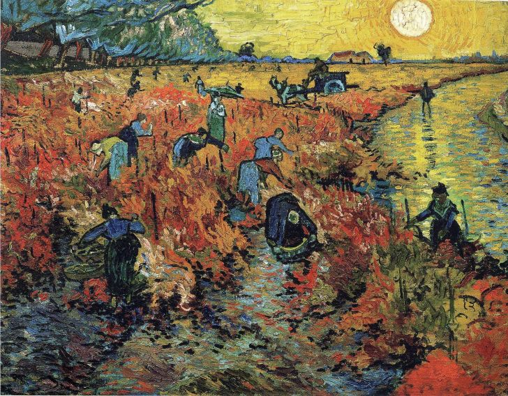 the red vineyard by vincent van gogh