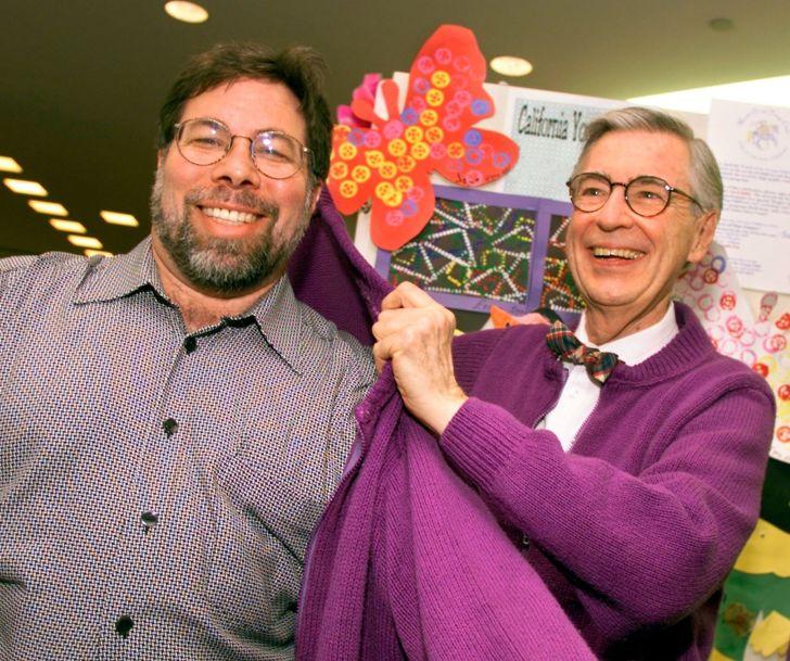 Steve Wozniak and Mr. Rogers.