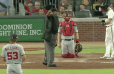 VIDEO: Umpire Loses His Mind Yelling at Nats Manager and Pointing at Bryce Harper